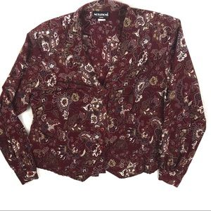 VINTAGE DESIGN TOP | BUTTON FRONT LONG SLEEVES